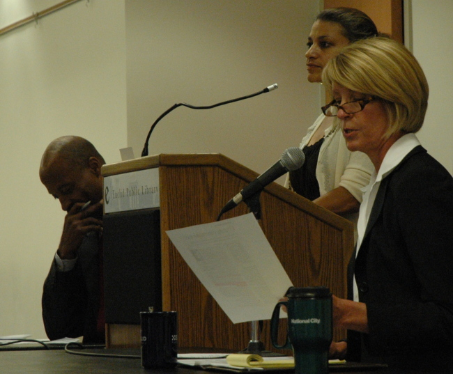 Bay Village Mayor Debbie Sutherland Debating Cuyahoga County Commissioner Peter Lawson Jones